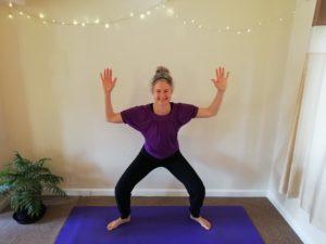 Amy West Yoga Happy Monkey