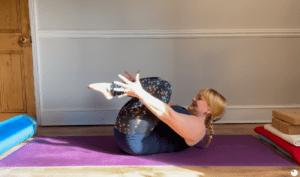 yoga Hatha class core strength apanasana