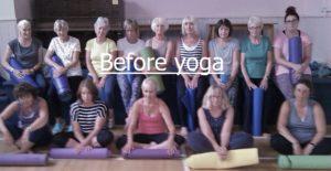 Grumpy & stressed before yoga