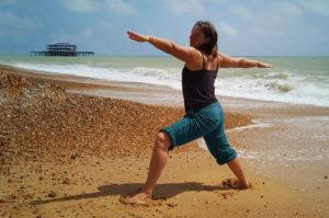 outdoor yoga in Brighton