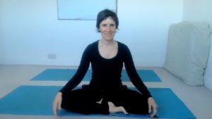 sitting crossed leg yoga pose