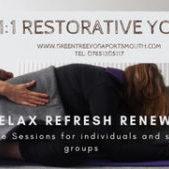 Offering bespoke 1:1 Restorative Yoga treatements