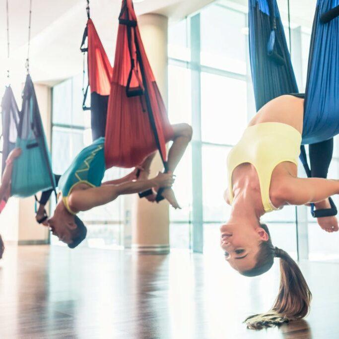 Aerial Yoga session