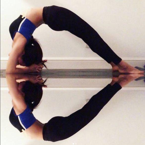 Yoga forearm balance