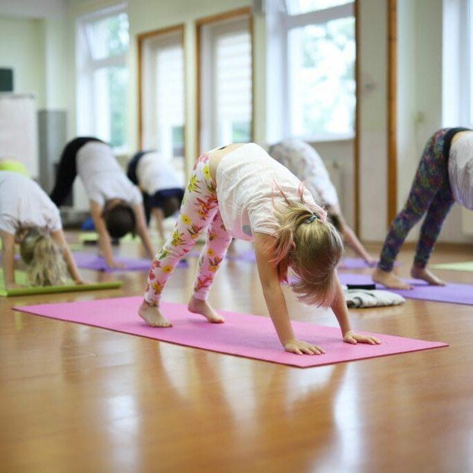 children's yoga session