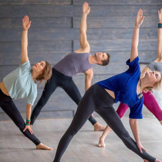 vinyasa yoga session